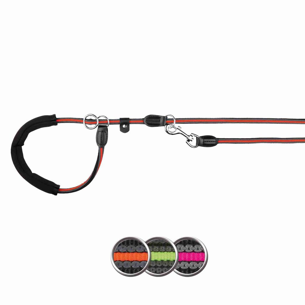 Ramal Retriever Fusion, M–XL, 1.90 m/ø13 mm, Negro-Rosa