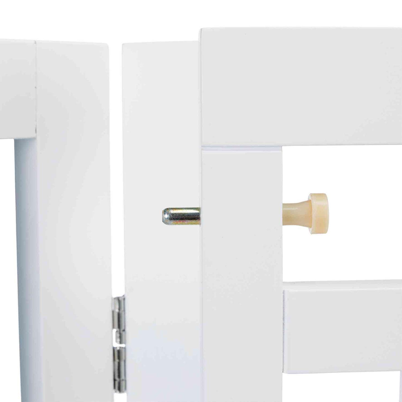 Barrera blanco con puerta 60–160 × 81 cm