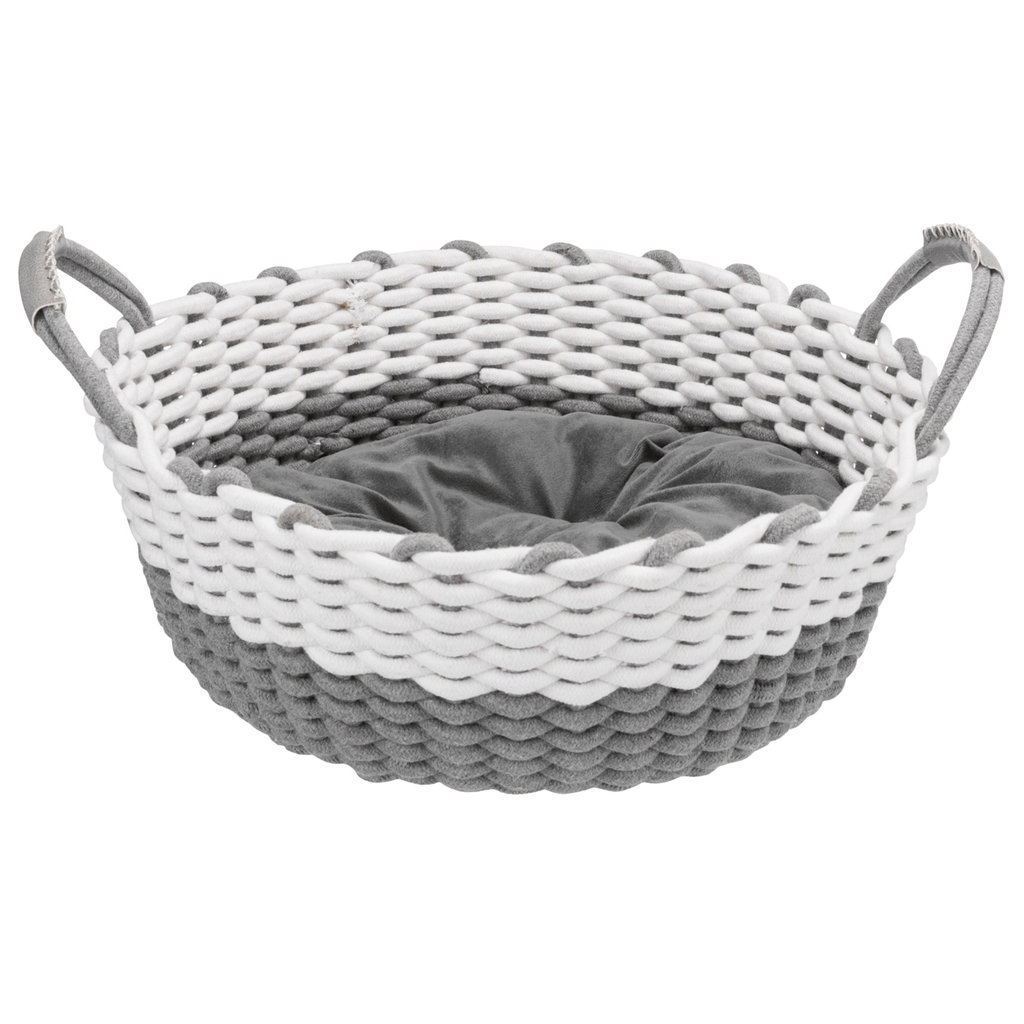 50 cm Grey Trixie Basket With Lining And Cushion